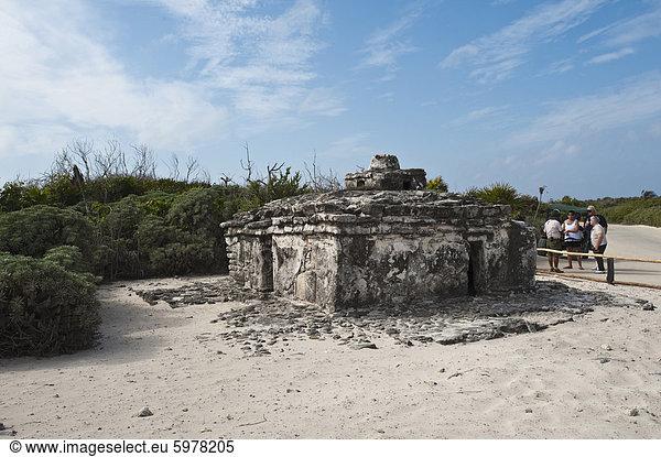 Alte Maya-Ruinen,  Punta Sur Park,  Isla de Cozumel (Insel Cozumel),  Cozumel,  Ausschalten der Yucatan,  Quintana Roo,  Mexiko,  Nordamerika