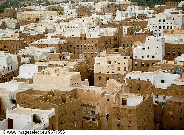 Ansicht, Luftbild, Fernsehantenne, Shibam, Jemen