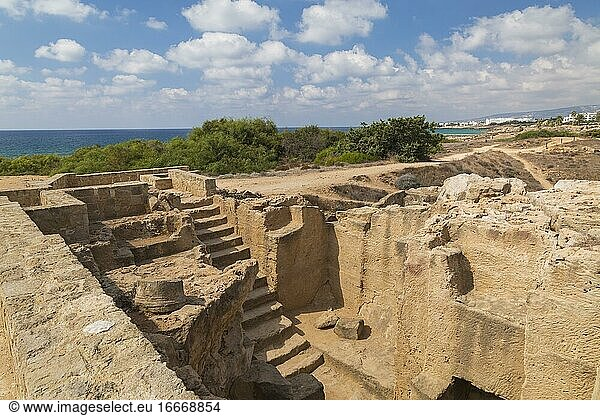 Antike Ruinen an den archäologischen Stätten der Gräber der Könige,  UNESCO-Weltkulturerbe,  Pafos,  Zypern,  Europa