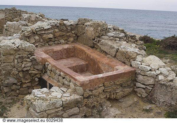 Bad finden Sie unter Kerkouane,  die nur reine punische Website jemals,  UNESCO Weltkulturerbe,  Tunesien,  Nordafrika,  Afrika gefunden