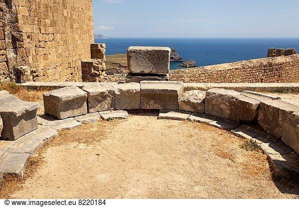 Geistlicher , Akropolis , Griechenland , Lindos , Rhodos