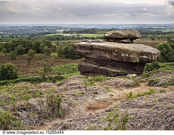 geography / travel,  Great Britain,  England,  Summerbridge,  Gritstone Rock Formation at Hare Heads on Brimham Moor Nidderdale North Yorkshire
