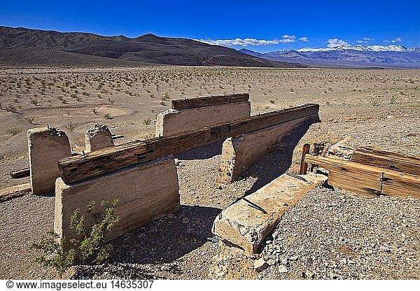 geography / travel,  USA,  California,  Death Valley,  Ashford Mill Ruins,  Death Valley National Park,  California