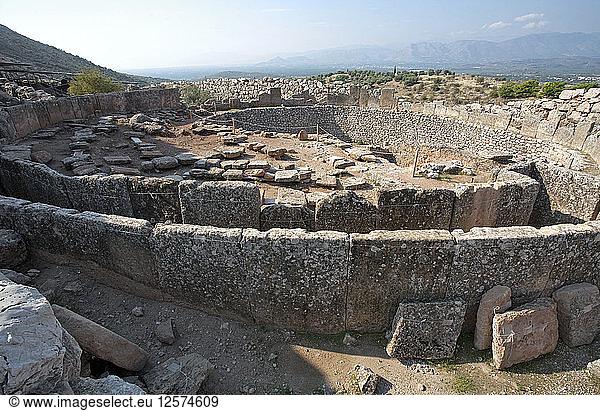 Grabkreis A,  Mykene,  Griechenland. Künstler: Samuel Magal