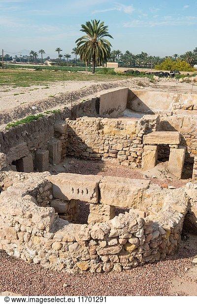 Ilici,  roman city,  La Alcudia Archaeological Site,  Elche,  Alicante province,  Spain