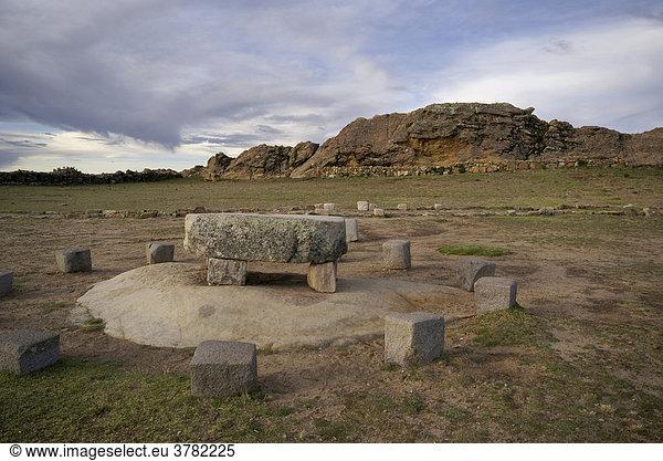 Kult- und Opferstädte der Inka auf der Isla del Sol,  Titikaka-See,  Bolivien