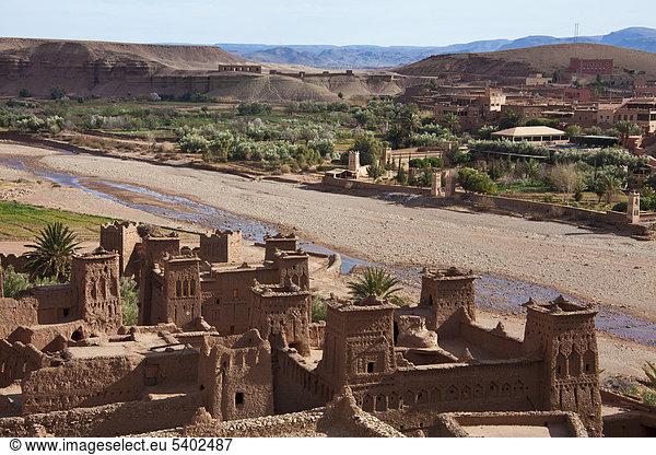 Marokko,  Nordafrika,  Afrika,  Süden Marokkos,  Atlas,  Bergen,  Bergen,  Ait Ben Haddou,  Kasbah,  kulturelle Erbe von Welt