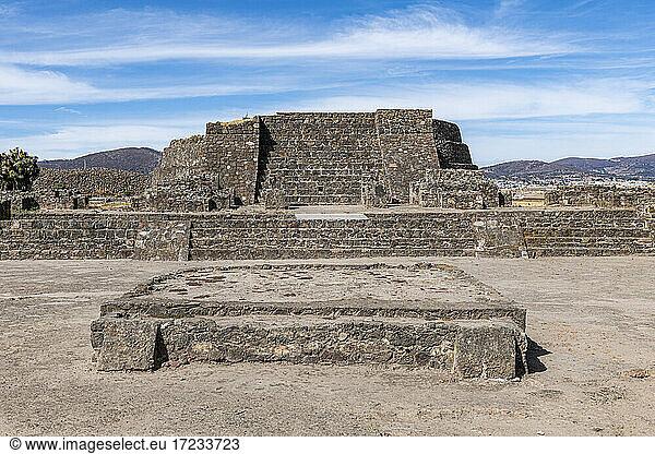 Mesoamerikanische archäologische Stätte von Tecoaque,  Tlaxcala,  Mexiko,  Nordamerika