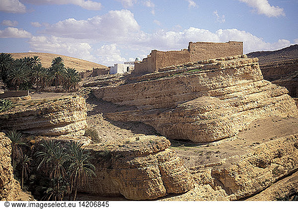 Mides city and canyon,  Tozeur,  Tunisia,  North Africa,  Africa