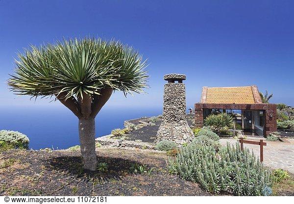 Mirador de la Pena mit Aussichtsrestaurant von Architekt Cesar Manrique,  El Hierro,  Kanarische Inseln,  Spanien,  Europa