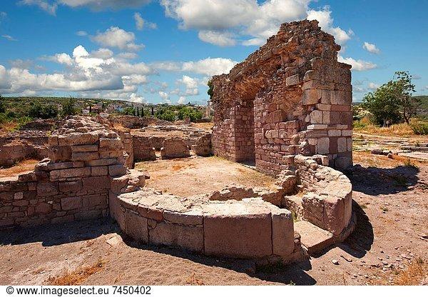 nahe, Ruine, Dorf, Heiligtum, Basilika, Türkei