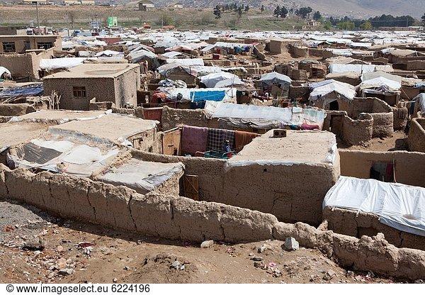 slum area inhabited with refugees,  in Kabul