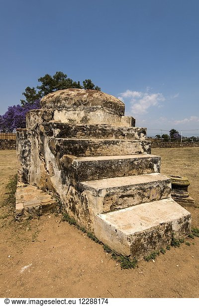 The Ex-monastery of Santiago Apostol in Cuilipan de Guerrero,  Oaxaca state,  Mexico.
