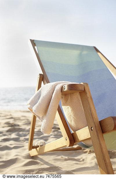 Beach Chair and Towel,  Arcachon,  Gironde,  Aquitaine,  France