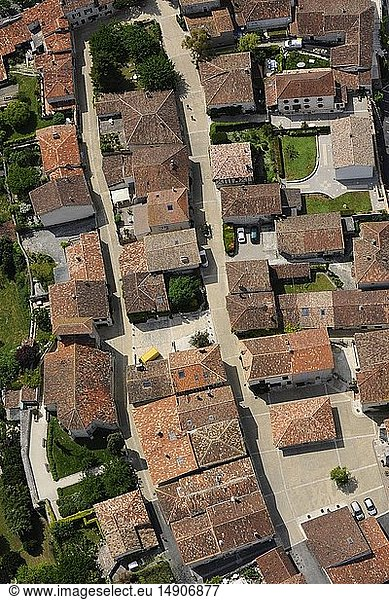 France,  Lot et Garonne,  Pujols,  labeled The Most Beautiful Villages of France,  the village (aerial view)